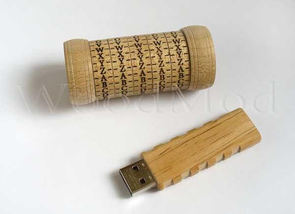 флешка криптекс деревянный