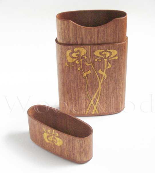 деревянная визитница